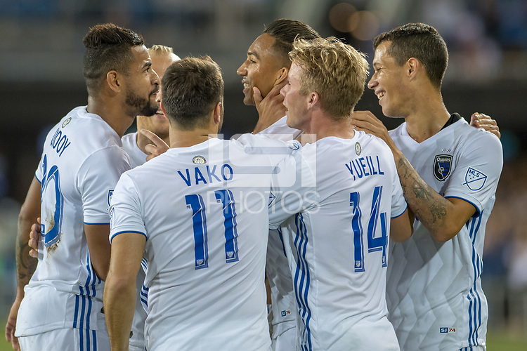 San Jose, CA - Wednesday September 19, 2018: Danny Hoesen during a Major League Soccer (MLS) match between the San Jose Earthquakes and Atlanta United FC at Avaya Stadium.