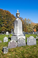 Historic cemetery in Lexington, MA, Massachusetts