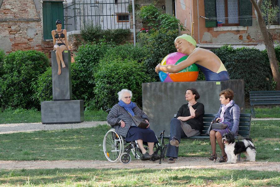 57th Art Biennale in Venice - Viva Arte Viva.<br /> Carole A. Feuerman: Dancing on the Water