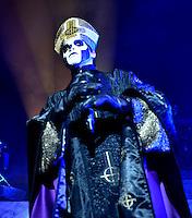 MIAMI BEACH, FL - NOVEMBER 03: Papa Emeritus III of Ghost performs on stage at Fillmore Miami Beach on November 3, 2016 in Miami Beach, Florida. Credit: MPI10 / MediaPunch