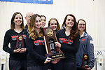 COLUMBUS, OH - MARCH 11: The University of Nebraska stands with their third place trophy  competes during the Division I Rifle Championships held at The French Field House on the Ohio State University campus on March 11, 2017 in Columbus, Ohio. (Photo by Jay LaPrete/NCAA Photos via Getty Images)