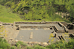 Golan Heights, ruins of Gamla ancient Synagogue