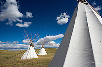 Teepees at First Peoples Buffalo Jump State Park