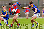 I.S. Killorglin Mike Breen is brilliantly gets past Tralee CBS John Walsh and Tomas O'Connor during Corn Uí Mhuírí Q/F in Fitzgerald Stadium on Wednesday