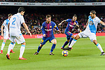 Lionel Messi of FC Barcelona (C) in action against Celso Borges Mora of RC Deportivo La Coruna (R) during the La Liga 2017-18 match between FC Barcelona and Deportivo La Coruna at Camp Nou Stadium on 17 December 2017 in Barcelona, Spain. Photo by Vicens Gimenez / Power Sport Images