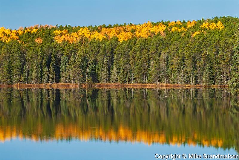Autumn on Graphic Lake<br />Near Kenora<br />Ontario<br />Canada