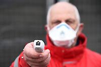 Health operators perform anti-Coronavirus Covid19 checks prior to the match <br /> Reggio Emilia 09/03/2020 Stadio Citta del Tricolore <br /> Football Serie A 2019/2020 <br /> Sassuolo Vs Brescia <br /> Photo Daniele Buffa / Insidefoto