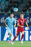 Shanghai FC Forward Oscar Emboaba Junior (R) and Jiangsu FC Defender Li Ang (L) during the AFC Champions League 2017 Round of 16 match between Jiangsu FC (CHN) vs Shanghai SIPG FC (CHN) at the Nanjing Olympic Stadium on 31 May 2017 in Nanjing, China. Photo by Marcio Rodrigo Machado / Power Sport Images