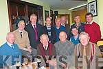 Lartigue Mono-Rail Xmas Party : members of the Listowel Lartigue Mono-Rail Committee and operators attending their Xmas party at the Saddle Bar in Listowel on Saturday night  last. Front : Ray Barrett, Toddy Buckley, Jonh McConnell, Pat Broadbin & Tim O'Leay , Standing : Ged Chute, Jimmy Deenihan, Martin Griffin, Pat Walsh, Franl O'Carroll, Paddy Keane & Brendan Kenny.