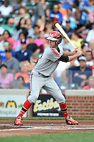 Kyle Tucker (30) of Plant High School in Tampa, Florida during the Under Armour All-American Game on August 16, 2014 at Wrigley Field in Chicago, Illinois.  (Mike Janes/Four Seam Images)