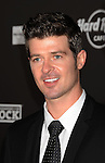 HOLLYWOOD, CA. - October 21: Robin Thicke arrives at the Hard Rock Cafe - Hollywood - Grand Opening on October 21, 2010 in Hollywood, California.