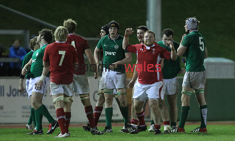 Wales celebrate victory at the final whistle..Under 20 Six Nations.Wales v Ireland.Eirias - Colwyn Bay.01.02.13.©Steve Pope