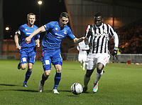 Esmael Goncalves gets the better of Josh Meekings in the St Mirren v Inverness Caledonian Thistle Clydesdale Bank Scottish Premier League match played at St Mirren Park, Paisley on 30.1.13.