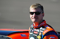 Apr 10, 2008; Avondale, AZ, USA; NASCAR Sprint Cup Series driver Jeff Burton during qualifying for the Subway Fresh Fit 500 at Phoenix International Raceway. Mandatory Credit: Mark J. Rebilas-