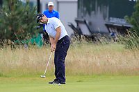 Oliver Wilson (ENG) on the 13th green during Round 1 of the Aberdeen Standard Investments Scottish Open 2019 at The Renaissance Club, North Berwick, Scotland on Thursday 11th July 2019.<br /> Picture:  Thos Caffrey / Golffile<br /> <br /> All photos usage must carry mandatory copyright credit (© Golffile | Thos Caffrey)