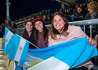 Fans in the grandstand during the Rugby Championship match between the New Zealand All Blacks and Argentina Pumas at Trafalgar Park in Nelson, New Zealand on Saturday, 8 September 2018. Photo: Dave Lintott / lintottphoto.co.nz