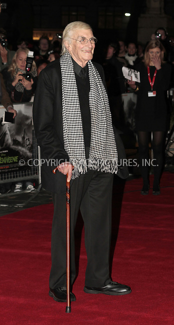 WWW.ACEPIXS.COM....US Sales Only....October 10 2012, London....Martin Landau at the premiere of Frankenweenie 56th BFI London Film Festival on October 10 2012 in London ....By Line: Famous/ACE Pictures......ACE Pictures, Inc...tel: 646 769 0430..Email: info@acepixs.com..www.acepixs.com