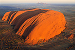 I had the pilot fly directly over Ayers Rock at the moment the sun broke the horizon, Australia.