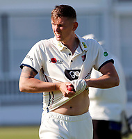 Harry Podmore prepares to bowl for kent during the friendly game between Kent CCC and Surrey at the St Lawrence Ground, Canterbury, on Thursday Apr 5, 2018