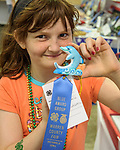 The dolphin is her favorite animal so Kaylin Reeves of Ackworth made on for her project entry in the Warren County Fair.