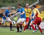 Jon Daly controls the ball in the box