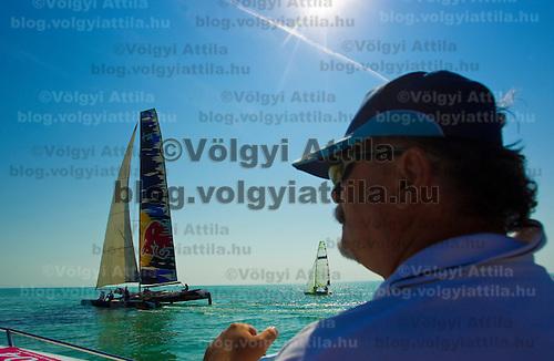 42nd Blue Ribbon Regattta race along the 160 km course around Lake Balaton near Balatonfured, 150 km (93 miles) west of Budapest. Hungary. Friday, 02. July 2010. ATTILA VOLGYI