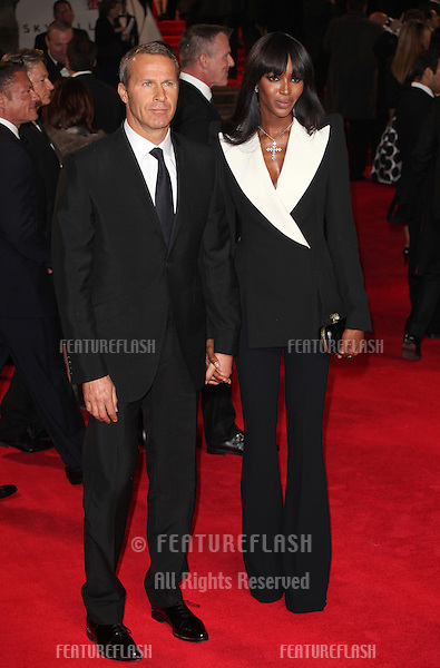 Naomi Campbell and Vladislav Doronin arriving for the Royal World Premiere of 'Skyfall' at Royal Albert Hall, London. 23/10/2012 Picture by: Alexandra Glen / Featureflash