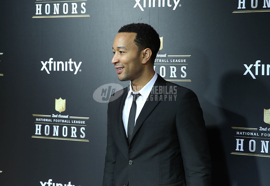 Feb. 2, 2013; New Orleans, LA, USA: Recording artist John Legend on the red carpet prior to the Super Bowl XLVII NFL Honors award show at Mahalia Jackson Theater. Mandatory Credit: Mark J. Rebilas-USA TODAY Sports