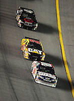 Feb 9, 2008; Daytona, FL, USA; Nascar Sprint Cup Series driver Dale Earnhardt Jr (88) leads Dave Blaney (22) and Reed Sorenson (41) during the Bud Shootout at Daytona International Speedway. Mandatory Credit: Mark J. Rebilas-US PRESSWIRE
