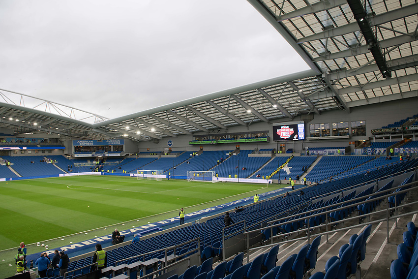 The Amex Stadium<br /> <br /> Photographer David Horton/CameraSport<br /> <br /> The Premier League - Brighton and Hove Albion v Liverpool - Saturday 12th January 2019 - The Amex Stadium - Brighton<br /> <br /> World Copyright © 2018 CameraSport. All rights reserved. 43 Linden Ave. Countesthorpe. Leicester. England. LE8 5PG - Tel: +44 (0) 116 277 4147 - admin@camerasport.com - www.camerasport.com