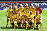 20190810 - ANDERLECHT, BELGIUM : LSK's players with Ceclilie Fiskerstrand (1) , Ingrid Moe Wold (2) , Ina Gausdal (5) , Synne Skinnes Hansen (7) , Elise Thorsnes (11) , Emilie Woldvik (14) , Therese Asland (16) , Maryll Abrahamsen (21) , Anja Sonstevold  (22) , Isabelle Bachor (23) , Sophie Haug (25)  pictured posing for the teampicture during the female soccer game between the Belgian RSCA Ladies – Royal Sporting Club Anderlecht Dames  and the Norwegian LSK Kvinner Fotballklubb ladies , the second game for both teams in the Uefa Womens Champions League Qualifying round in group 8 , saturday 10 th August 2019 at the Lotto Park Stadium in Anderlecht  , Belgium  .  PHOTO SPORTPIX.BE for NTB NO | DAVID CATRY