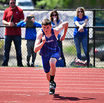 Zack Pluff of Freeburg starts his run to the high jump at the Collinsville Invitational Boys Track & Field Meet on Saturday May 5, 2018. Tim Vizer | Special to STLhighschoolsports.com