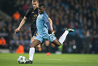 Kelechi Iheanacho of Manchester City scores to make it 1 1 during the UEFA Champions League GROUP match between Manchester City and Celtic at the Etihad Stadium, Manchester, England on 6 December 2016. Photo by Andy Rowland.
