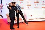 President of Real Madrid Florentino Perez kiss Cristiano Ronaldo during the ceremony of 'Marca Leyenda' Award in Madrid. July 29, 2019. (ALTERPHOTOS/Francis González)