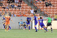 Houston, TX - Saturday Sept. 03, 2016: Monica Hickman Alves, Kristen Edmonds celebrates scoring during a regular season National Women's Soccer League (NWSL) match between the Houston Dash and the Orlando Pride at BBVA Compass Stadium.