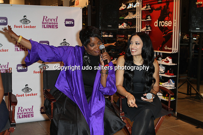 Anna Maria Horsford and Melissa De Sousa Attend Meet the Cast of BET's Reed Between The Lines at Foot Locker Time Square, NY  10/10/11