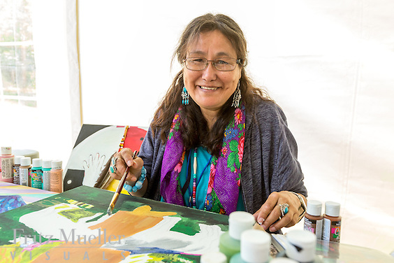 Adaka Cultural Festival 2016, Whitehorse, Yukon, Canada, Yukon First Nation Culture and Tourism Association, Kwanlin Dun Cultural Centre, Mary Caesar, artist
