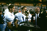 FTB 8812 230 Colorado<br /> <br /> Freedom Bowl- BYU vs Colorado. 14 Ty Detmer receiving trophy. <br /> <br /> December 29, 1988<br /> <br /> Box Number: 23086<br /> <br /> Photo by: Mark Philbrick/BYU<br /> <br /> Copyright BYU PHOTO 2008<br /> All Rights Reserved<br /> 801-422-7322<br /> photo@byu.edu