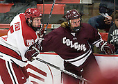 Dan Ford (Harvard - 5), John Lidgett (Colgate - 14) - The Harvard University Crimson defeated the visiting Colgate University Raiders 4-2 on Saturday, November 12, 2011, at Bright Hockey Center in Cambridge, Massachusetts.