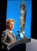 United States Senator Hillary Rodham Clinton (Democrat of New York) makes remarks at the annual American Israel Public Affairs Committee Policy Conference at the Washington Convention Center in Washington, DC on May 24, 2005. The conference, which attracts more than 5,000 participants is one of the most important events of the year for the American pro-Israel community.<br /> Credit: Ron Sachs / CNP