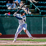 3 September 2018: Vermont Lake Monsters infielder Jonah Bride in action against the Tri-City ValleyCats at Centennial Field in Burlington, Vermont. The Lake Monsters defeated the ValleyCats 9-6 in the last game of the 2018 NY Penn League regular season. Mandatory Credit: Ed Wolfstein Photo *** RAW (NEF) Image File Available ***