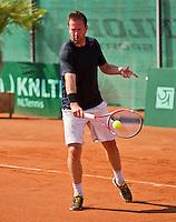 Netherlands, Amstelveen, August 22, 2015, Tennis,  National Veteran Championships, NVK, TV de Kegel,  Men's  45+, Michel van de Sanden<br /> Photo: Tennisimages/Henk Koster