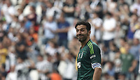 Calcio, Serie A: Juventus - Hellas Verona, Torino, Allianz Stadium, 19 maggio, 2018.<br /> Juventus' Captain and goalkeeper Gianluigi Buffon gestures to fans during the Italian Serie A football match between Juventus and Hellas Verona at Torino's Allianz stadium, 19 May, 2018.<br /> Juventus won their 34th Serie A title (scudetto) and seventh in succession.<br /> Gianluigi Buffon played his last match with Juventus today after 17 years.<br /> UPDATE IMAGES PRESS/Isabella Bonotto
