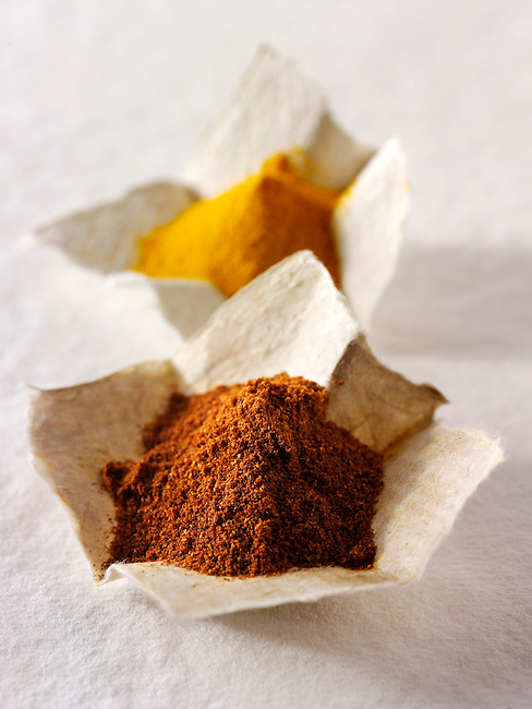 Ground chilli powder spice & ground turmeric