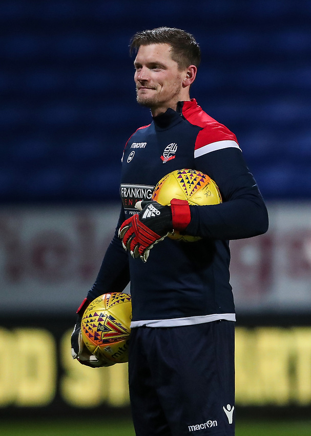 Bolton Wanderers' Ben Williams warming up before the match  <br /> <br /> Photographer Andrew Kearns/CameraSport<br /> <br /> The EFL Sky Bet Championship - Bolton Wanderers v Reading - Tuesday 29th January 2019 - University of Bolton Stadium - Bolton<br /> <br /> World Copyright © 2019 CameraSport. All rights reserved. 43 Linden Ave. Countesthorpe. Leicester. England. LE8 5PG - Tel: +44 (0) 116 277 4147 - admin@camerasport.com - www.camerasport.com