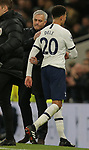 Tottenham's Head Coach Jose Mourinho shakes hands with Dele Alli as he is substituted during the Premier League match at the Tottenham Hotspur Stadium, London. Picture date: 7th December 2019. Picture credit should read: Paul Terry/Sportimage