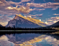 Vermillion Lake and Mount Rundle. Banff National Park, Canada.