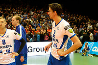 GRONINGEN - Volleybal , Lycurgus - Orion, finale playoff 5, seizoen 2018-2019, 12-5-2019,  teleurstelling bij Lycurgus speler Wytze Kooistra