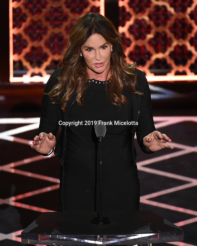 """BEVERLY HILLS - SEPTEMBER 7: Caitlyn Jenner appears onstage at the """"Comedy Central Roast of Alec Baldwin"""" at the Saban Theatre on September 7, 2019 in Beverly Hills, California. (Photo by Frank Micelotta/PictureGroup)"""