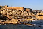 Castillo de San Ramon, near Rodalquilar, Cabo de Gata natural park, Almeria, Spain